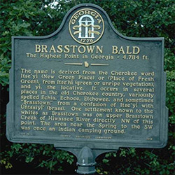 Brasstown Bald Historical Marker